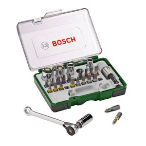 Bosch 27 Piece Screwdriver Bit & Ratchet Set