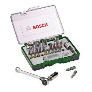 Bosch 27 Piece Screwdriver Bit & Ratchet Set